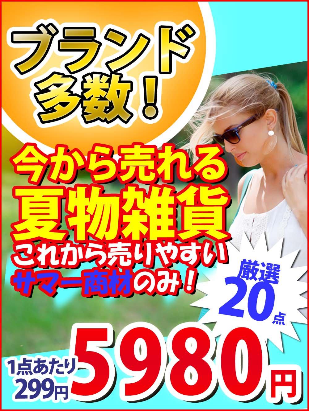 【今から売れる夏物雑貨】ブランド多数!これから売りやすいサマー商材のみを集めた雑貨アラカルト!【20点】@299