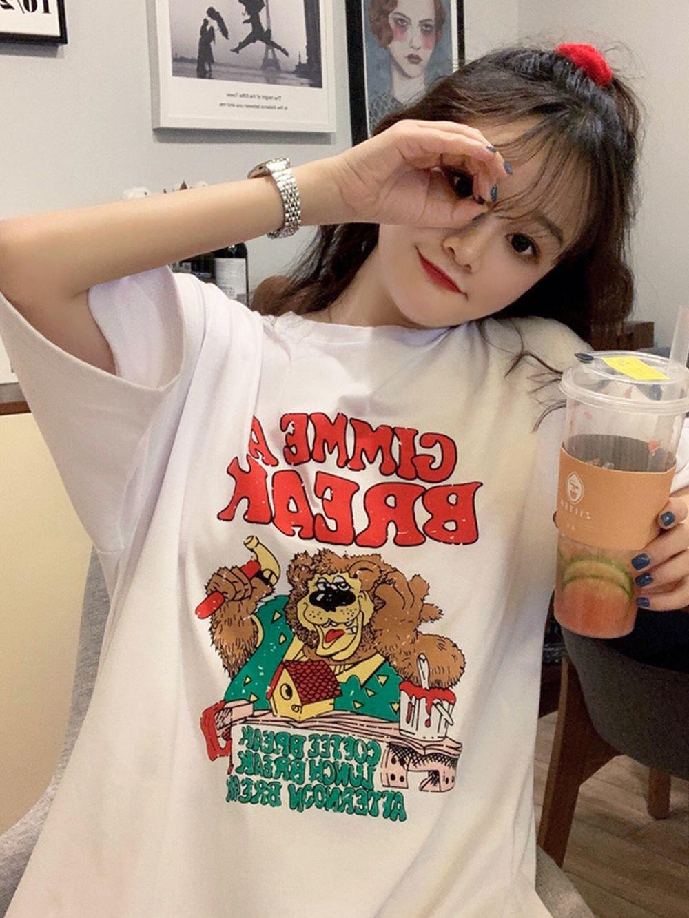 【広州仕入れ】ワイルドベアー 6分丈 Tシャツ