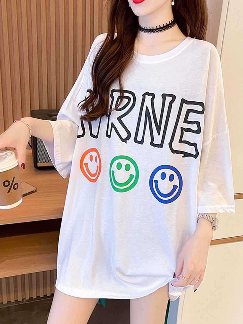 【広州仕入れ】スマイルビックロゴジップTシャツ