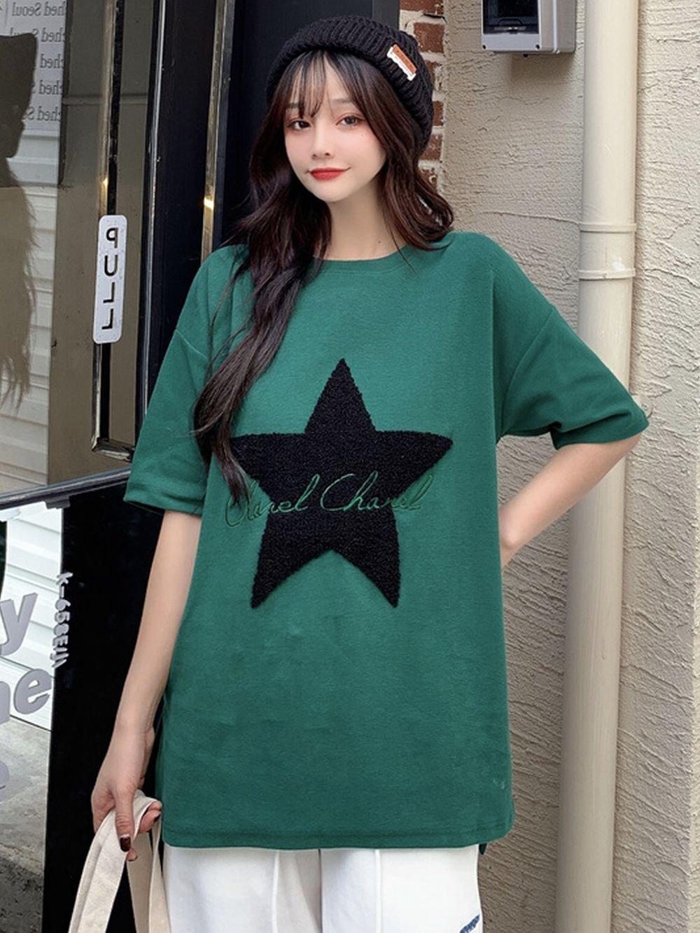 【広州仕入れ】星柄半袖Tシャツ