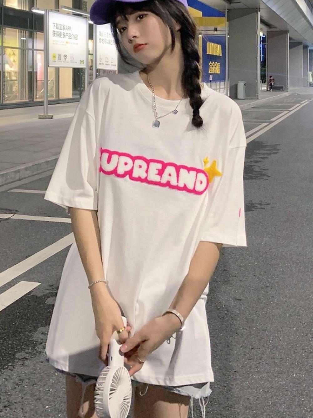 【広州仕入れ】ふわふわロゴTシャツ