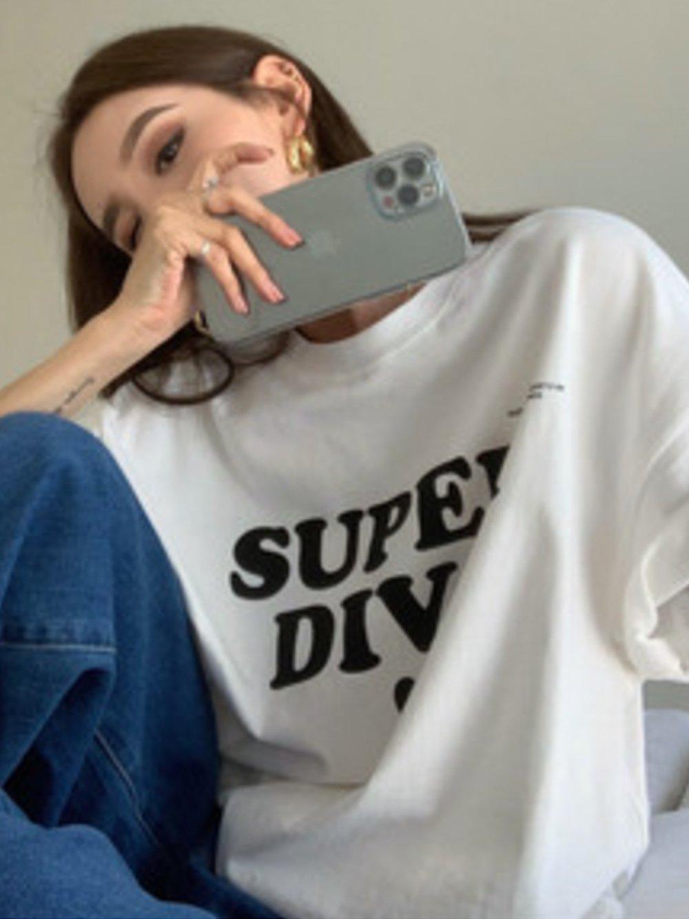 【広州仕入れ】ロゴプリントルーズTシャツ