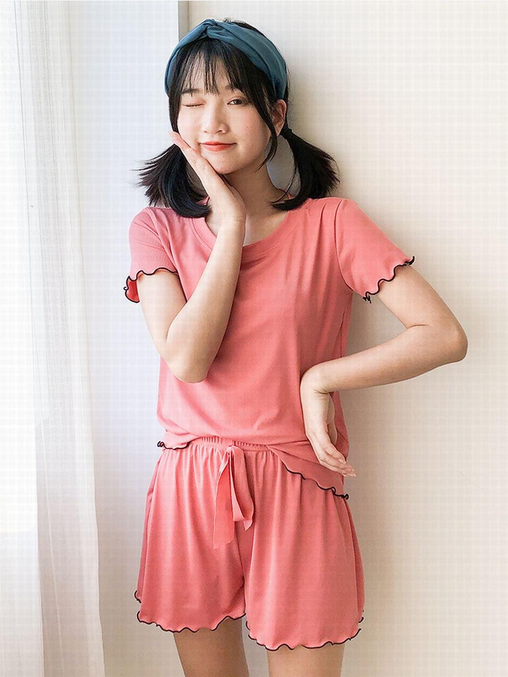 【広州仕入れ】半袖カジュアルパジャマ