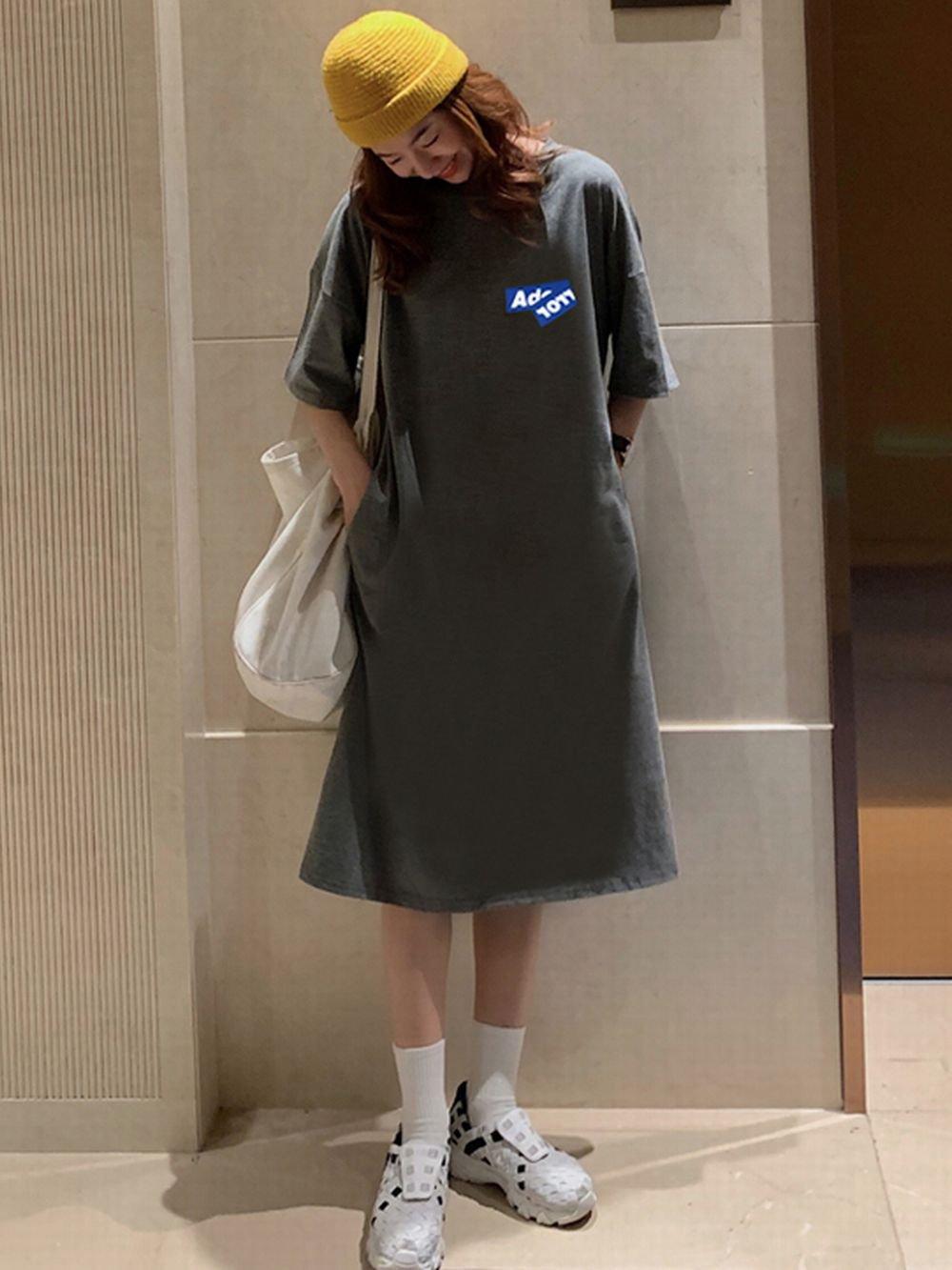 【広州仕入れ】膝上ルーズロングドレス