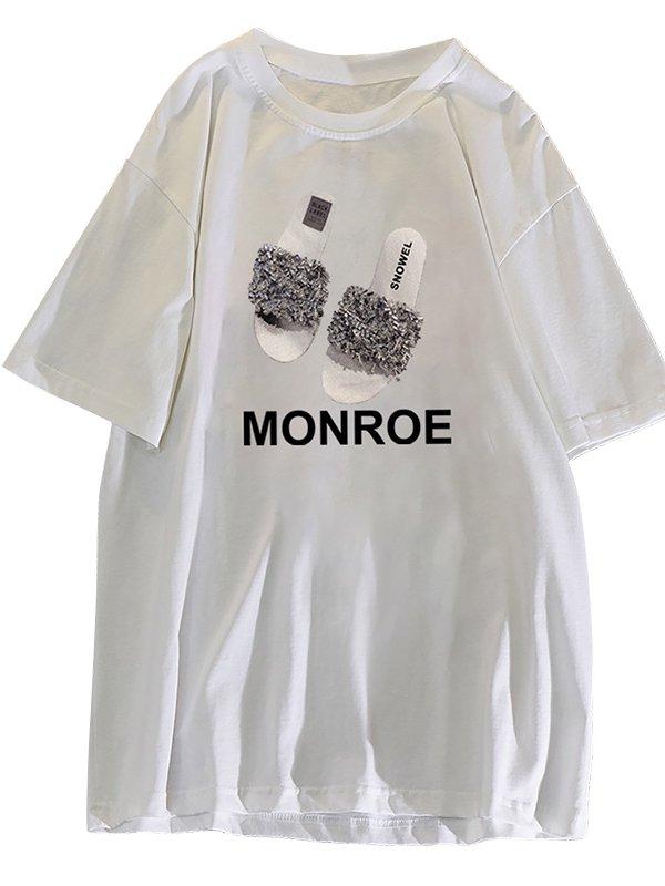 【広州仕入れ】コットングラフィックTシャツ