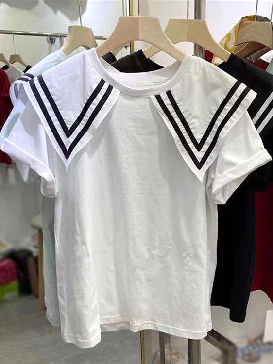 【広州仕入れ】セーラーカラーシャツ