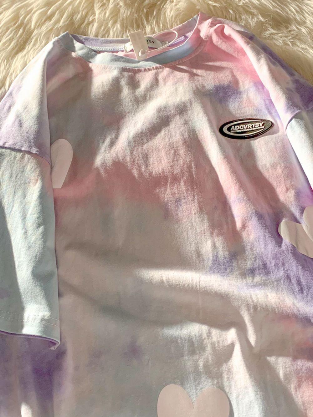 【広州仕入れ】絞り染めメルヘンTシャツ