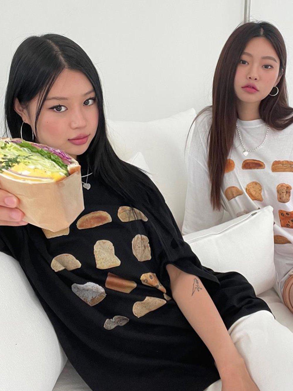 【広州仕入れ】ヨーロピアントースト3Dプリント半袖Tシャツ