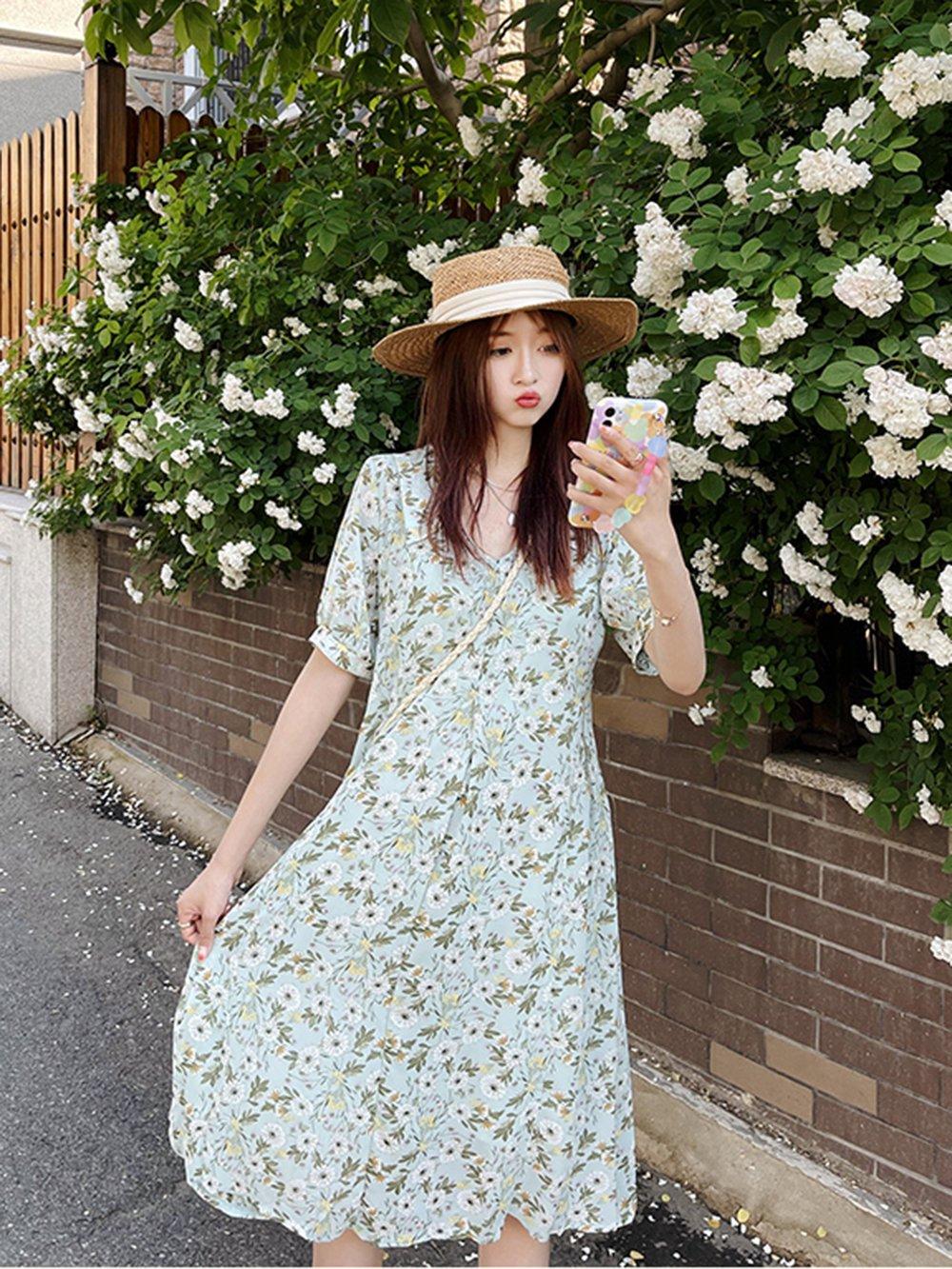 【広州仕入れ】夏のドレスMMカバー外国風シフォンロングスカート