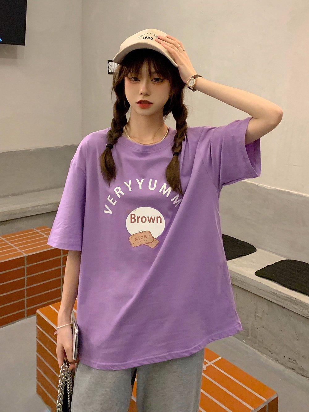 【広州仕入れ】ビッグシルエット グラフィック半袖Tシャツ