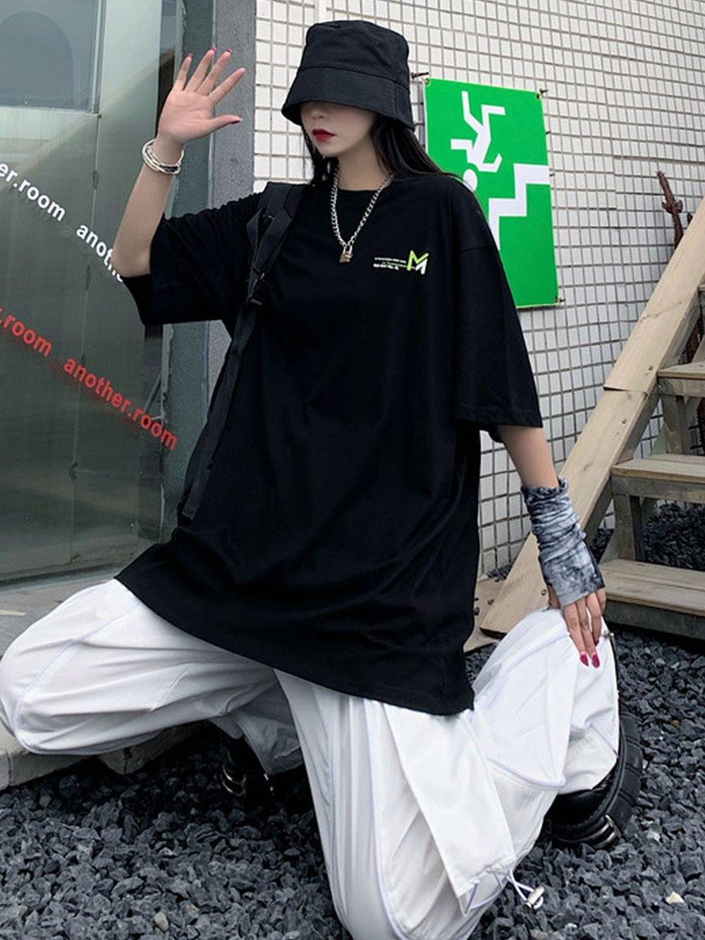 【広州仕入れ】ブランドレタープリントTシャツ