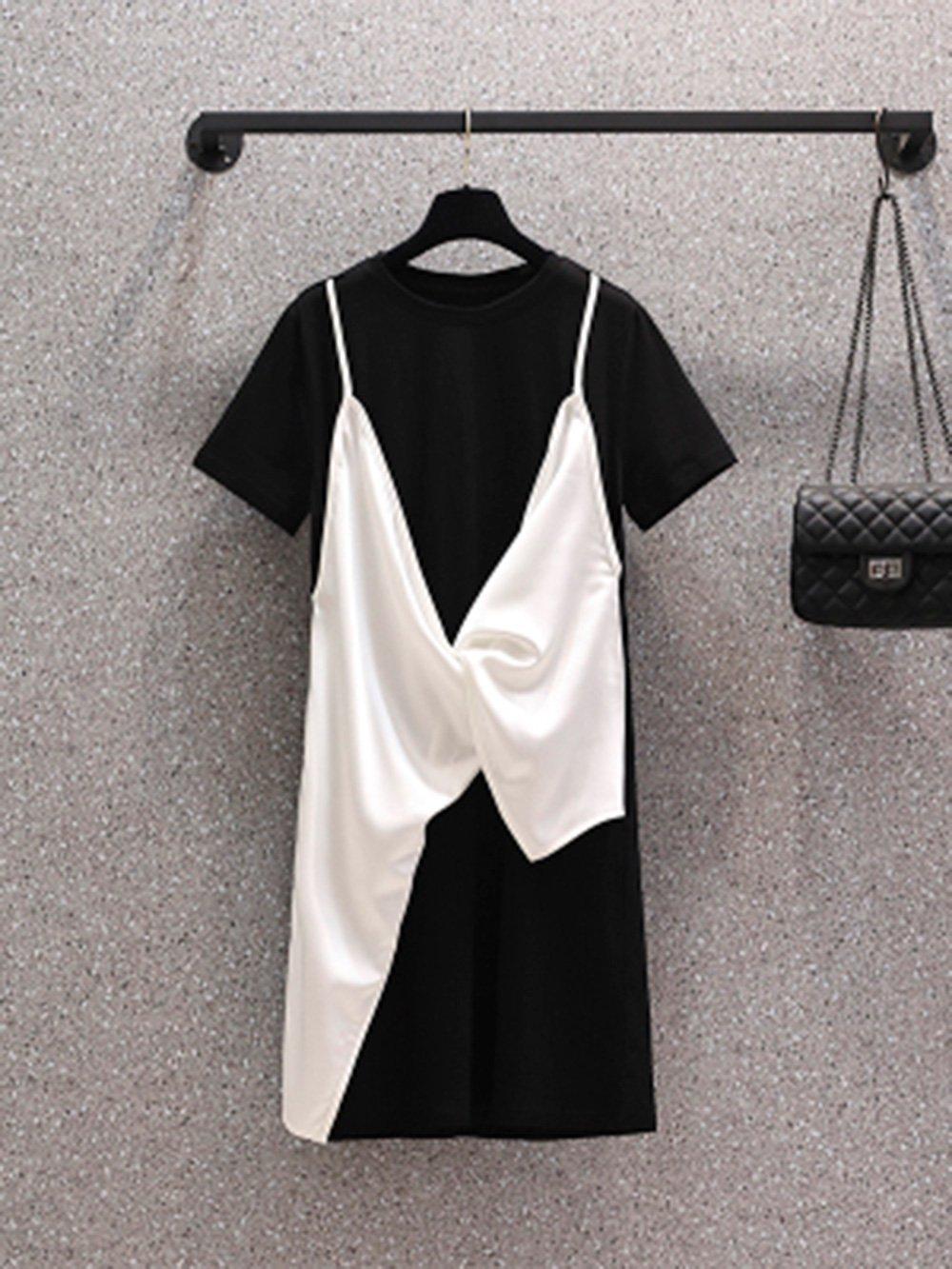 【広州仕入れ】ツーピースステッチデザインスタンディングスカート