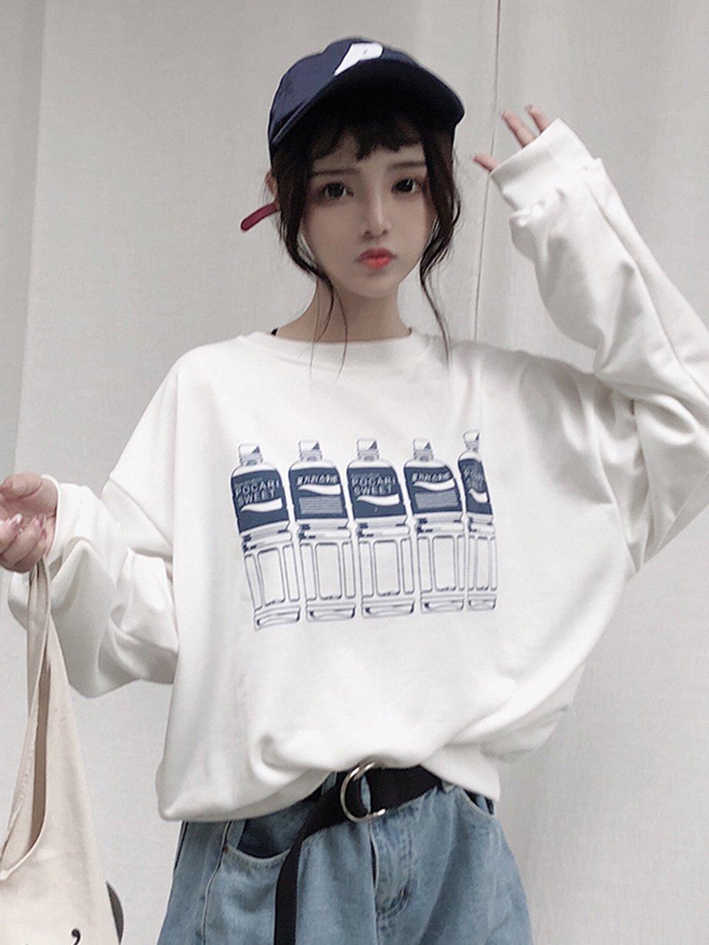 【広州仕入れ】秋冬セータールーズ学生オールマッチシャツ