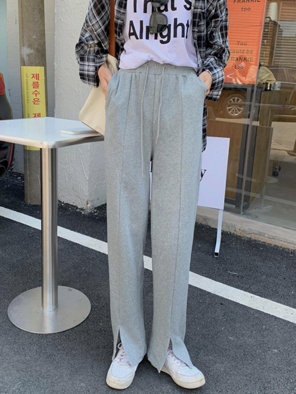 【広州仕入れ】カジュアルスタイルドローストリングスウェットパンツ