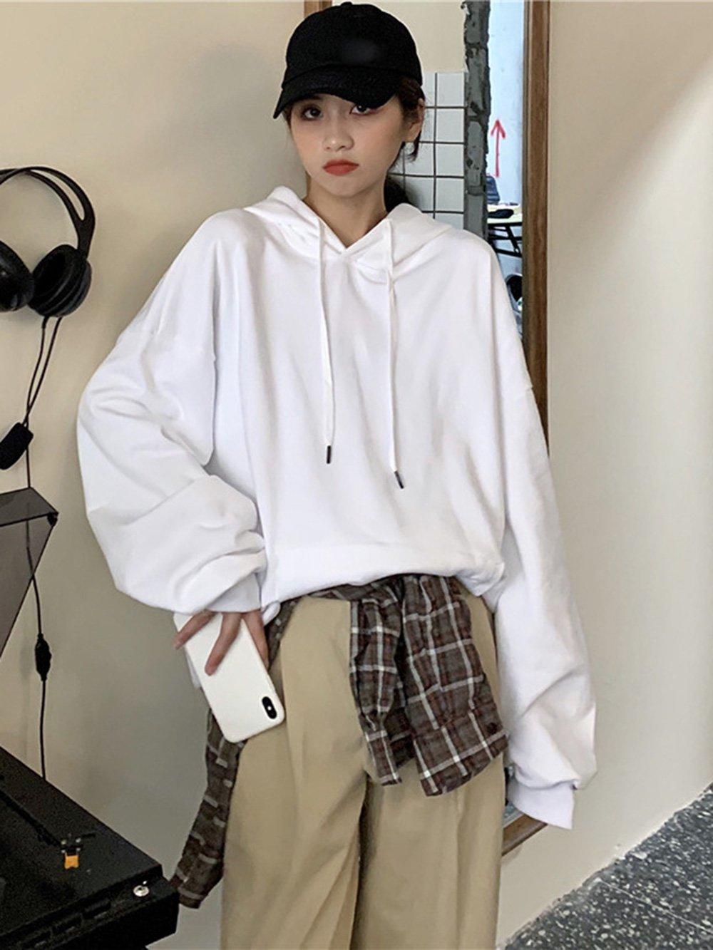 【広州仕入れ】西洋の無地のフード付きセーター