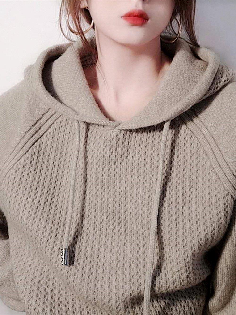 【広州仕入れ】 セーター生地 フード付きパーカー