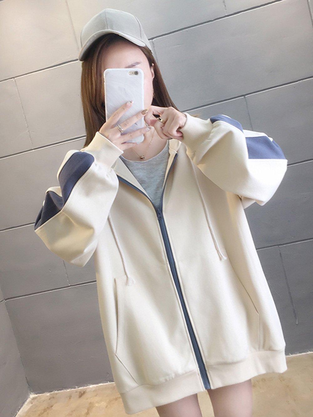 【広州仕入れ】袖ライン入り セーターフード付きジャケット