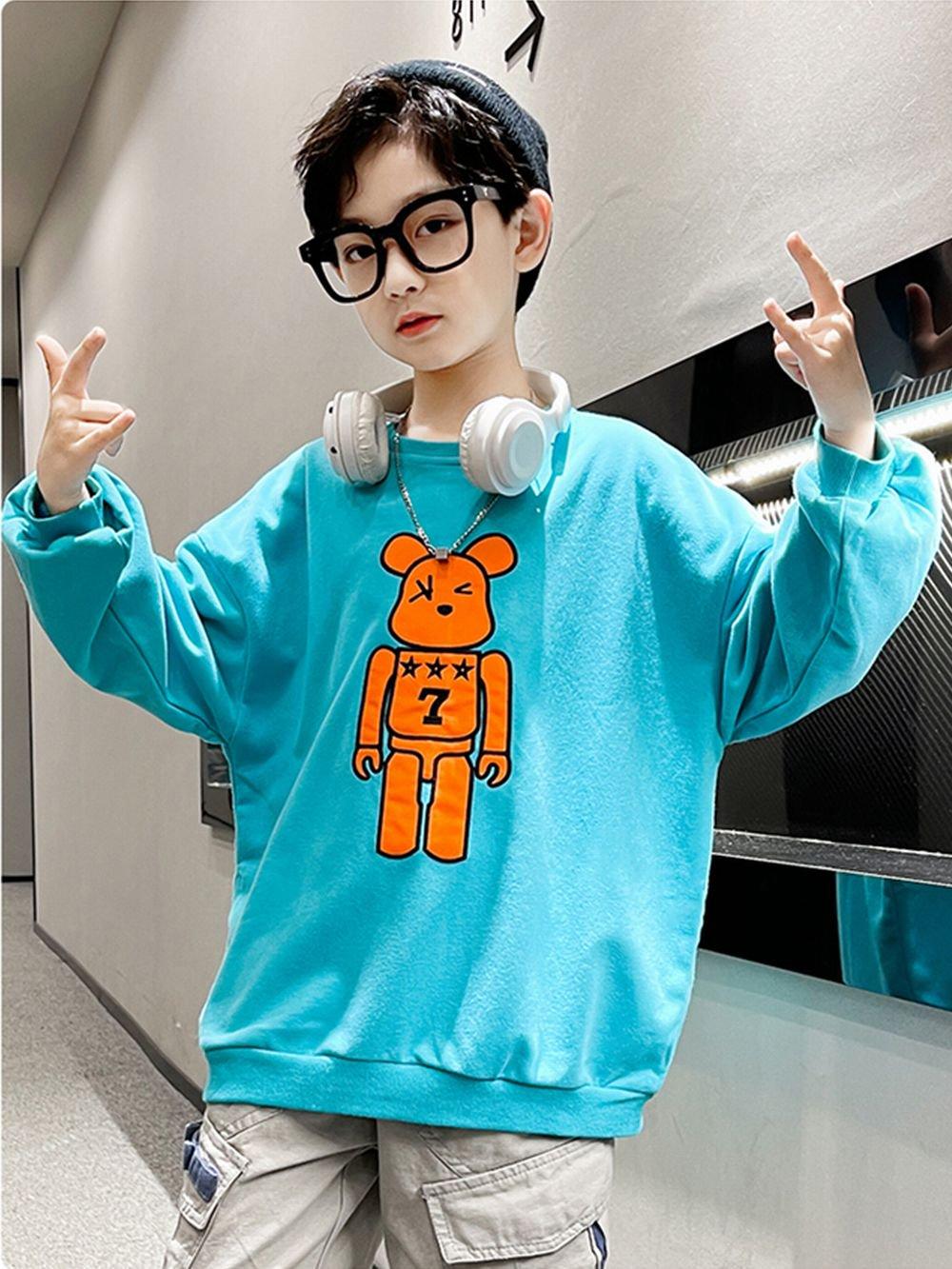 【広州仕入れ】ロボットクマキッズTシャツ
