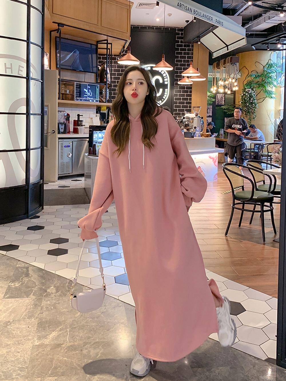 【広州仕入れ】バッグプリントフード付きドレス