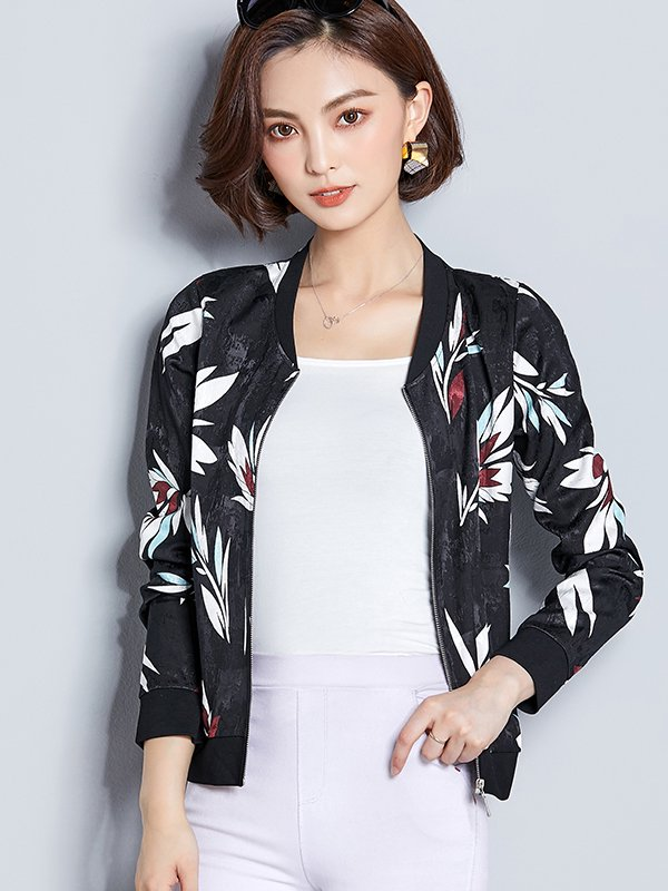 【広州仕入れ】花柄 長袖ジャケット
