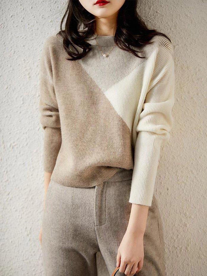 【広州仕入れ】マルチカラーウールセーター