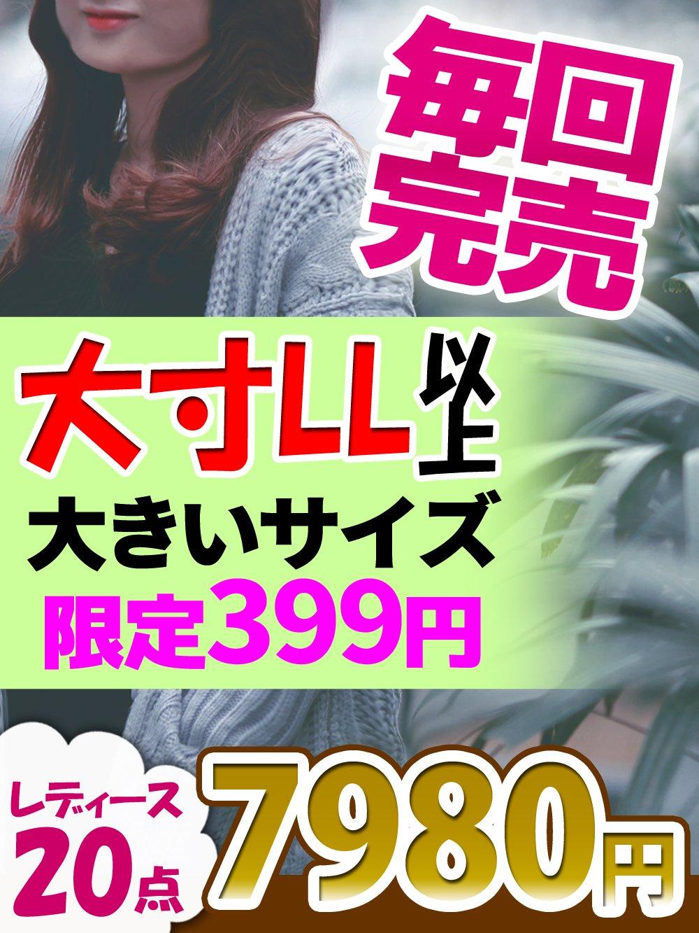 【大寸LL以上待望再入荷】売れ筋ブランドアラカルト!【10点】限定20セット@399