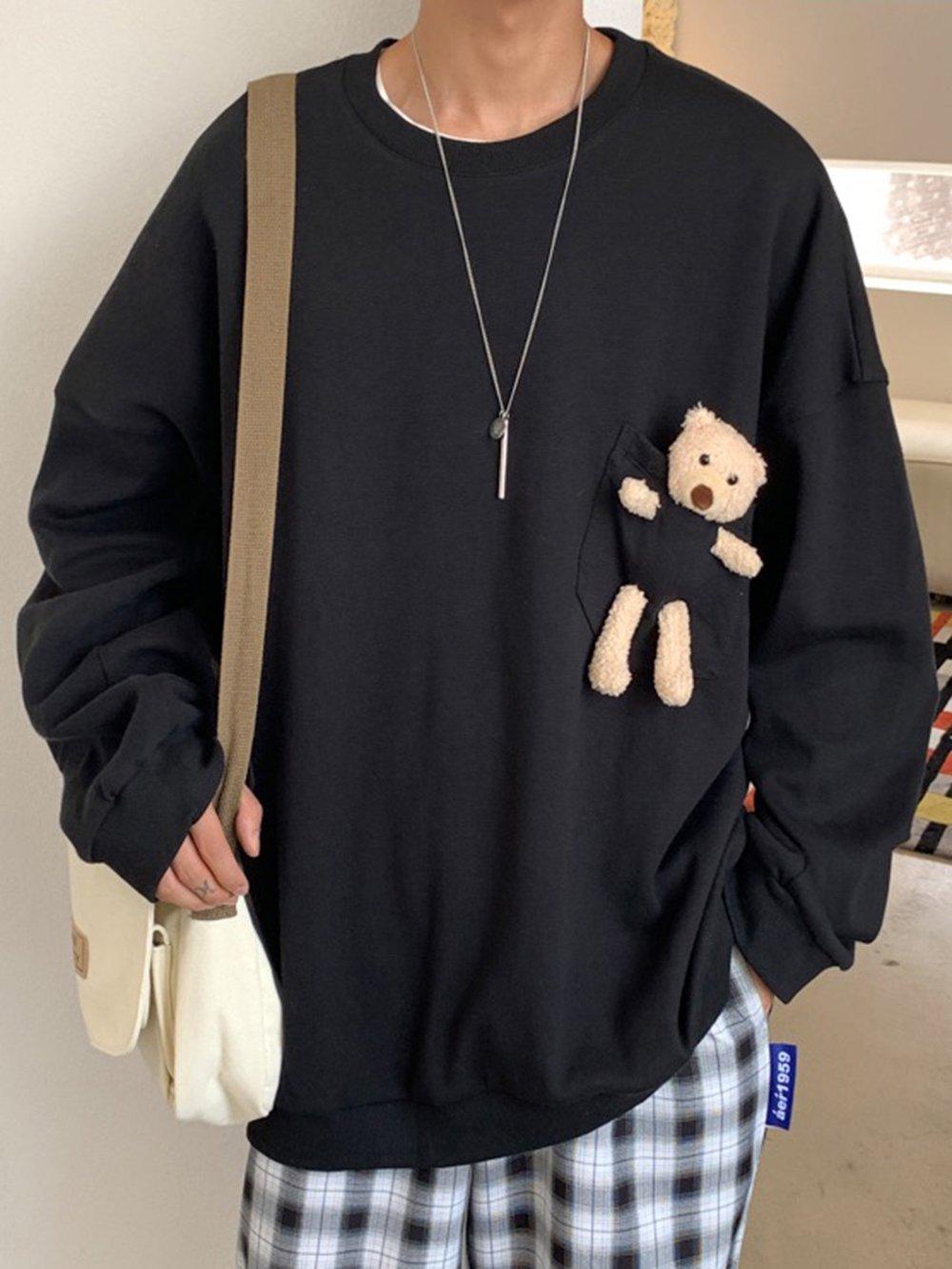 【広州仕入れ】クマ人形ポケット付きトレーナー