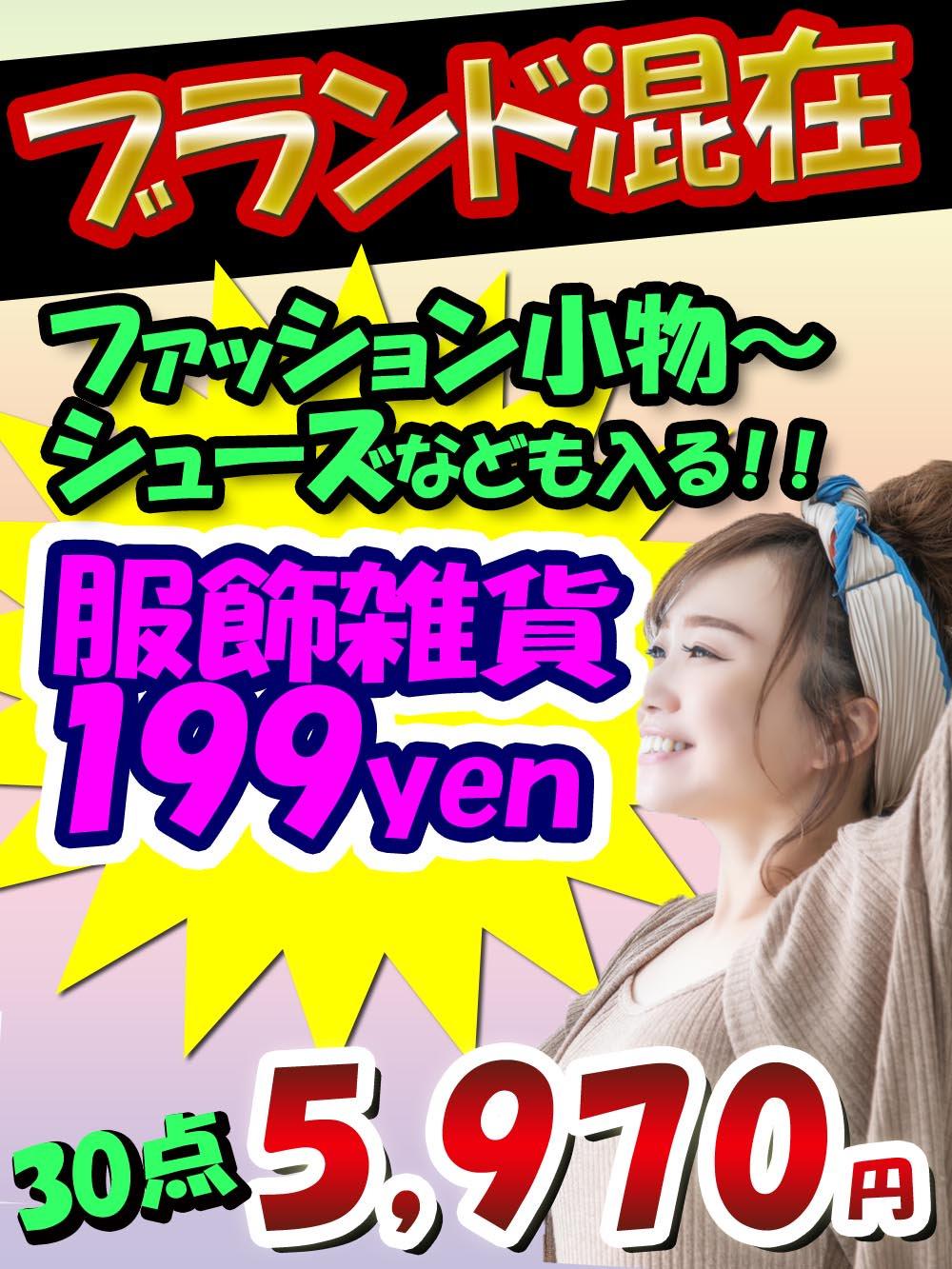 【ブランド込でALL199円 】めちゃ得!儲かる服飾雑貨アラカルト 30点