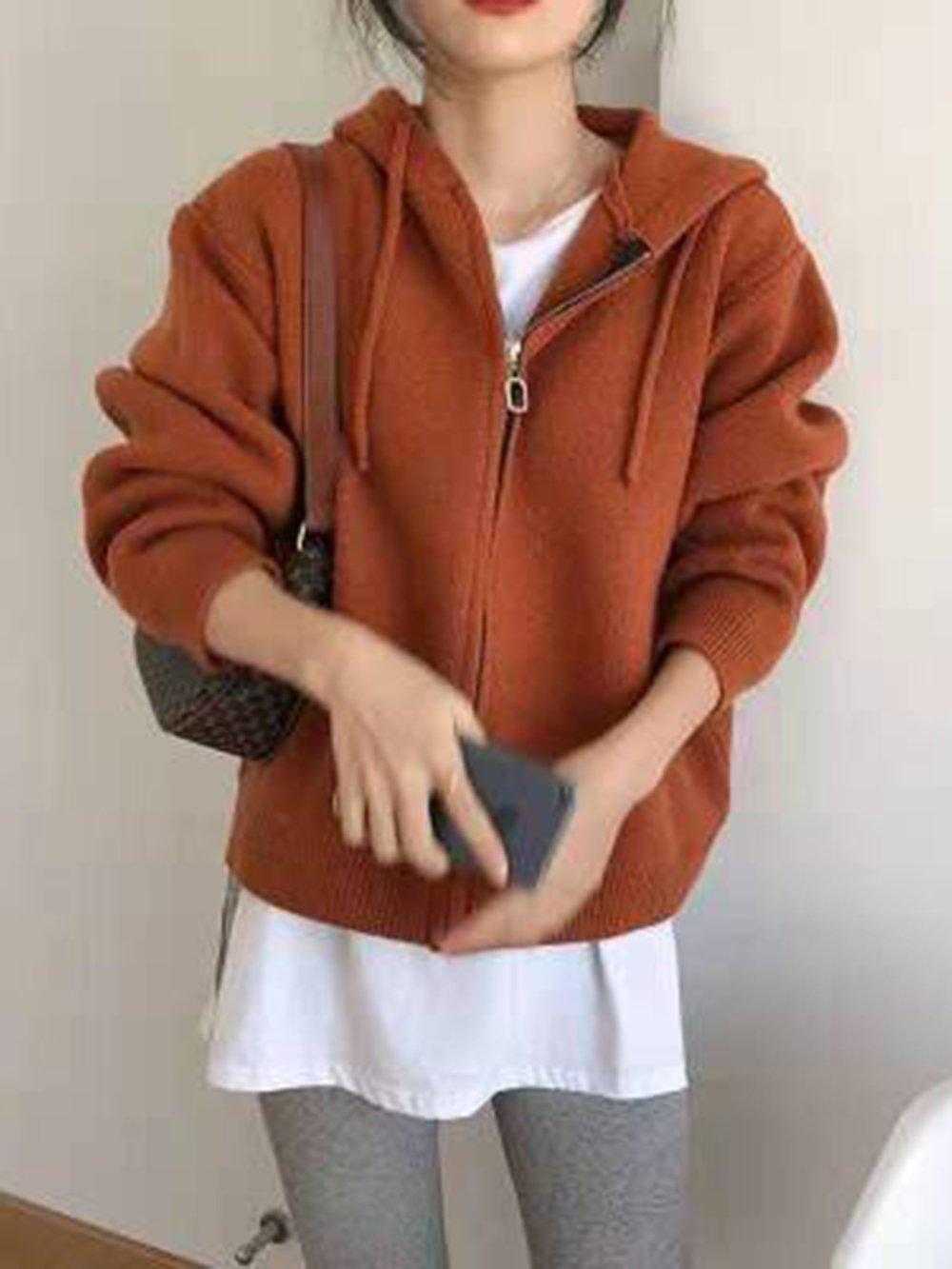 【広州仕入れ】ジッパーフード付きセーター