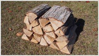 【未乾燥薪】30cm広葉樹ナラ 1箱 約25kg 中大割り 長野県産 ※こちらの商品は未乾燥品になります。