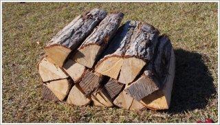 【未乾燥薪】40cm広葉樹ナラ 1箱 約25kg 中大割り 長野県産 ※こちらの商品は未乾燥品になります。