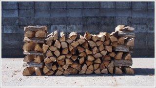 【未乾燥薪】★お買い得★ 30cm広葉樹ナラ 5箱 約125kg 中大割り 長野県産 ※こちらの商品は未乾燥品になります。