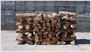 【未乾燥薪】★お買い得★ 40cm広葉樹ナラ 5箱 約125kg 中大割り 長野県産 ※こちらの商品は未乾燥品になります。