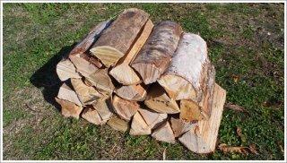 【未乾燥薪】30cm広葉樹ザツ 1箱 約20kg 中大割り 長野県産 ※こちらの商品は未乾燥品になります。