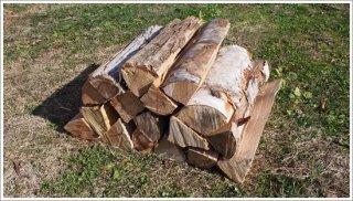 【未乾燥薪】40cm広葉樹ザツ 1箱 約20kg 中大割り 長野県産 ※こちらの商品は未乾燥品になります。