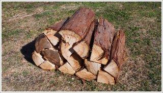 【未乾燥薪】30cmヒノキ 桧 1箱 約20kg 中大割り 長野県産 ※こちらの商品は未乾燥品になります。