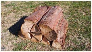 【未乾燥薪】40cmヒノキ 桧 1箱 約20kg 中大割り 長野県産 ※こちらの商品は未乾燥品になります。