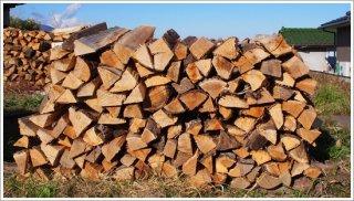 【未乾燥薪】★お買い得★ 30cm広葉樹ザツ 5箱 約100kg 中大割り 長野県産 ※こちらの商品は未乾燥品になります。