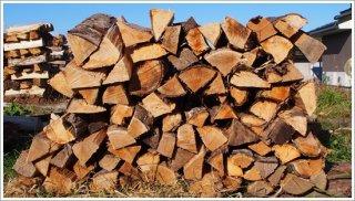 【未乾燥薪】★お買い得★ 40cm広葉樹ザツ 5箱 約100kg 中大割り 長野県産 ※こちらの商品は未乾燥品になります。