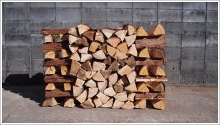【乾燥薪】★お買い得★ 30cmヒノキ 桧 5箱 約100kg 中大割り 長野県産
