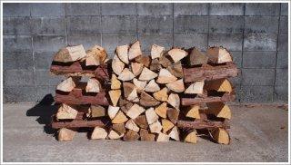 【未乾燥薪】★お買い得★ 40cmヒノキ 桧 5箱 約100kg 中大割り 長野県産 ※こちらの商品は未乾燥品になります。