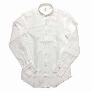 Finamore フィナモレ LORENZO DUBAI ロレンツォ ドゥバイ コットンリネン バンドカラーシャツ