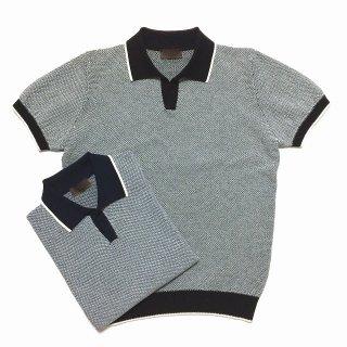 altea アルテア スキッパーカラー ニットポロシャツ
