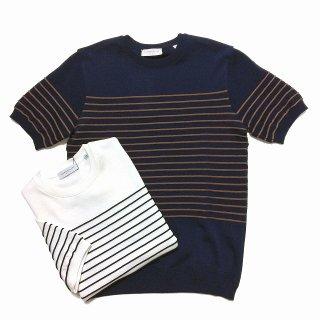 TOMORROWLAND トゥモローランド メンズ ロープストライプ ニットTシャツ