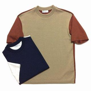 TOMORROWLAND トゥモローランド メンズ エアポンチ ニット切替Tシャツ