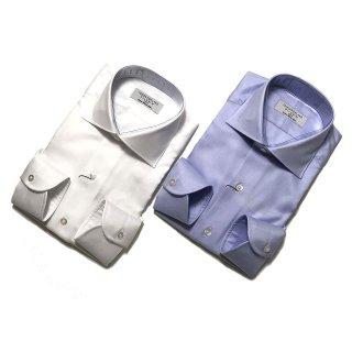 TOMORROWLAND トゥモローランド メンズ 140/2 ワイドカラー ツイルシャツ
