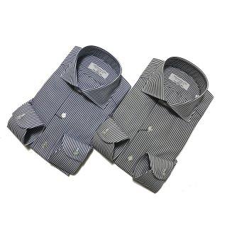 TOMORROWLAND トゥモローランド メンズ 140/2 ワイドカラー ロンドンストライプシャツ