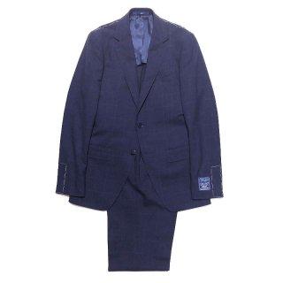 TOMORROWLAND トゥモローランド メンズ DRAGO BLUE FEEL ウインドーペーン 2Bスーツ