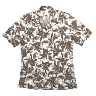 Finamore フィナモレ BART バート ペイズリープリント オープンカラー ショートスリーブシャツ