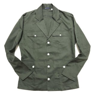Finamore フィナモレ GRANT グラント サファリジャケット型 4ポケット シャツジャケット オリーブグリーン
